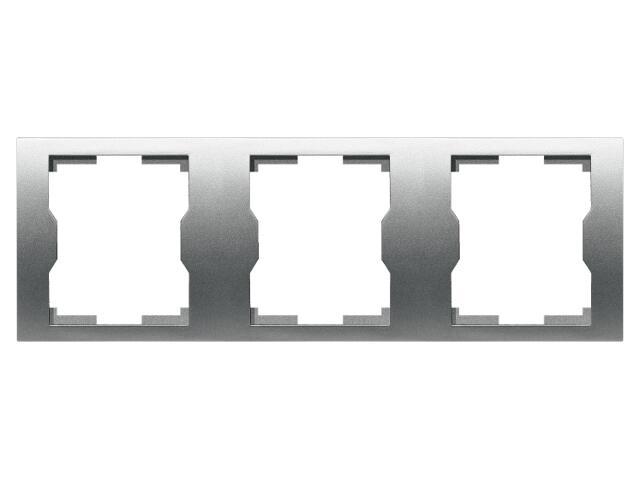 Ramka QUATTRO potrójna R 3H srebrny Elektro-plast N.