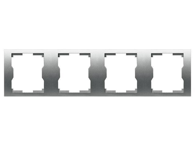 Ramka QUATTRO poczwórna R 4H srebrny Elektro-plast N.