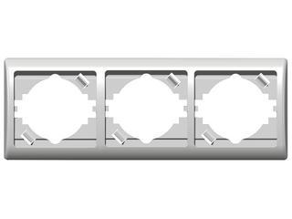 Ramka EFEKT potrójna pozioma biały Ospel