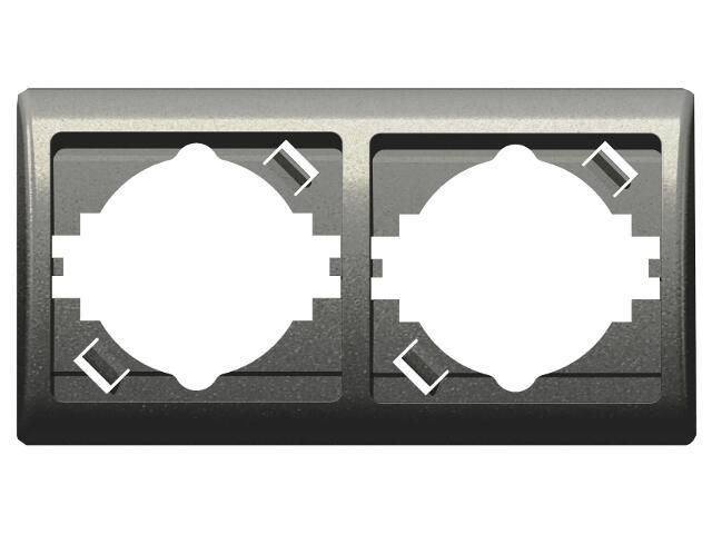 Ramka EFEKT METALIC podwójna pozioma grafit Ospel