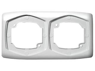 Ramka TON podwójna pozioma biały Ospel