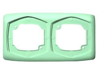 Ramka TON COLOR SYSTEM podwójna pozioma zieleń pistacjowa Ospel