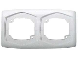 Ramka TON METALIC podwójna pozioma srebro Ospel