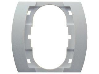 Ramka GAZELA METALIC do gniazda podwójnego srebro Ospel