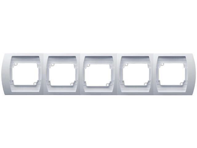Ramka GAZELA pięciokrotna pozioma biały Ospel
