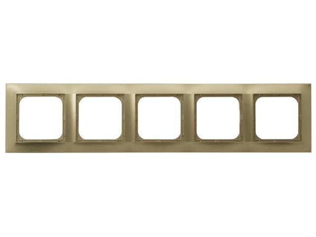 Ramka IMPRESJA pięciokrotna do łączników złoty metalik Ospel