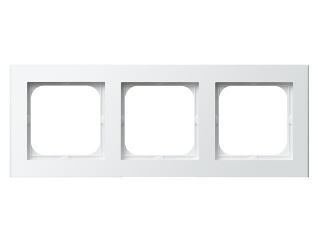 Ramka SONATA potrójna do łączników IP-44 biały Ospel