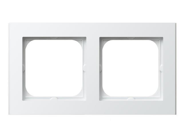 Ramka SONATA podwójna do łączników IP-44 biały Ospel