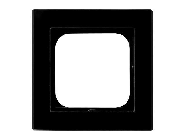 Ramka SONATA pojedyncza szklana czarny Ospel