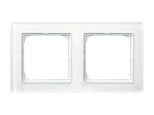 Ramka SONATA podwójna szklana biały Ospel