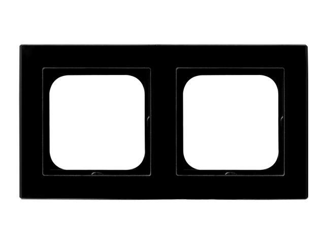 Ramka SONATA podwójna szklana czarny Ospel