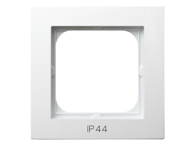 Ramka AS pojedyncza do łączników IP-44 biały Ospel