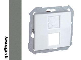 Ramka Simon 82 z adapterem do 1 lub 2 gniazd RJ 82585-38 grafit Kontakt Simon
