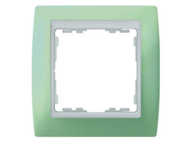 Ramka Simon 82 1x zielona/pośrednia biała 82611-65 Kontakt Simon