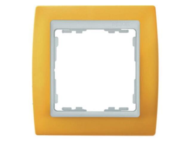 Ramka Simon 82 1x żółta/pośrednia biała 82612-62 Kontakt Simon