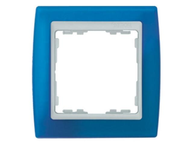 Ramka Simon 82 1x niebieski transparent./pośrednia biała 82613-64 Kontakt Simon