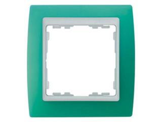 Ramka Simon 82 1x zielony transparent./pośrednia biała 82613-65 Kontakt Simon