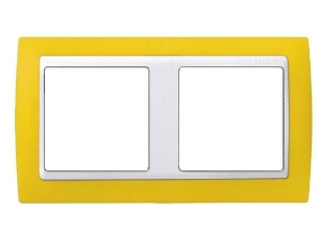 Ramka Simon 82 2x żółta/pośrednia biała 82622-62 Kontakt Simon