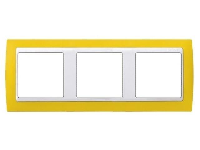 Ramka Simon 82 3x żółta/pośrednia biała 82632-62 Kontakt Simon