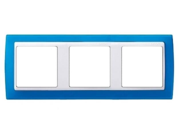 Ramka Simon 82 3x niebieski transparent./pośrednia biała 82633-64 Kontakt Simon