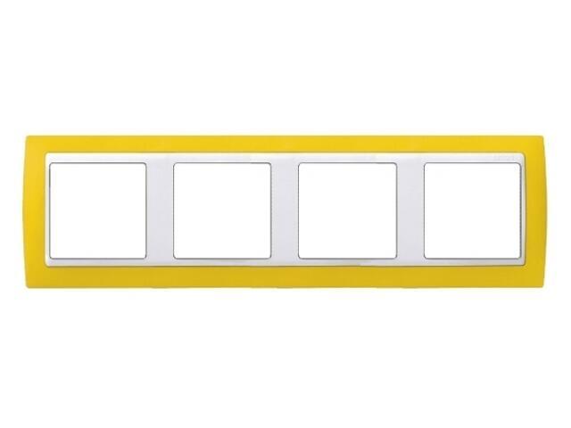 Ramka Simon 82 4x żółta/pośrednia biała 82642-62 Kontakt Simon