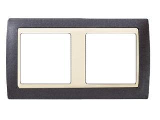 Ramka Simon 82 2x granit/pośrednia beżowy 82724-60 Kontakt Simon