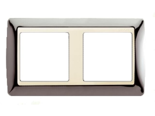 Ramka Simon 82 2x stal/pośrednia beżowy 82724-67 Kontakt Simon