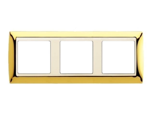 Ramka Simon 82 3x złoto/pośrednia beżowy 82734-66 Kontakt Simon