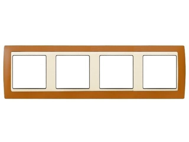 Ramka Simon 82 4x brązowy/pośrednia beżowy 82742-35 Kontakt Simon