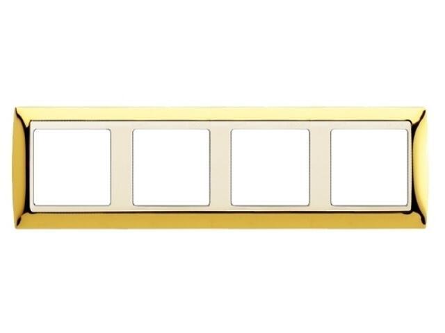 Ramka Simon 82 4x złoto/pośrednia beżowy 82744-66 Kontakt Simon