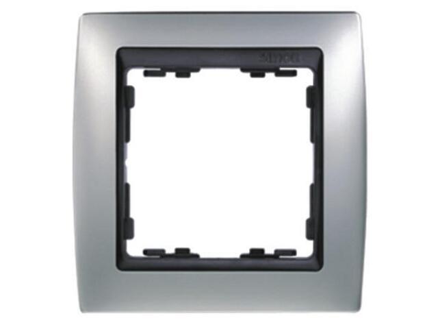 Ramka Simon 82 1x aluminium mat/pośrednia grafitowy 82814-33 Kontakt Simon
