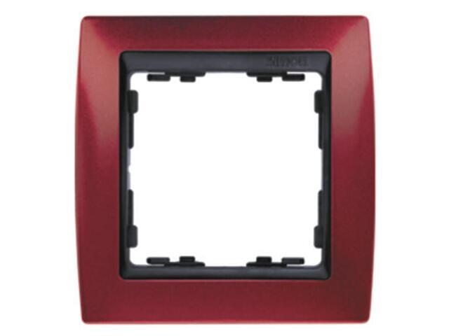 Ramka Simon 82 1x czerwony metal./pośrednia grafitowy 82814-37 Kontakt Simon