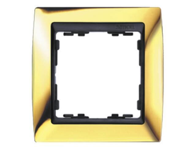Ramka Simon 82 1x złoto/pośrednia grafitowy 82814-66 Kontakt Simon