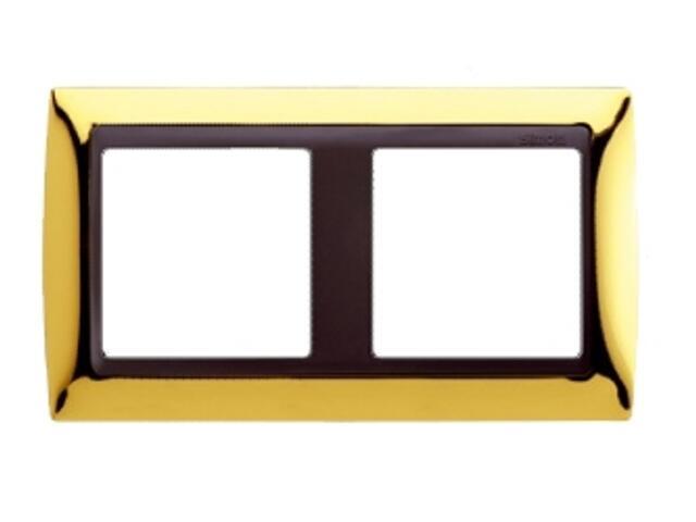 Ramka Simon 82 2x złoto/pośrednia grafitowy 82824-66 Kontakt Simon