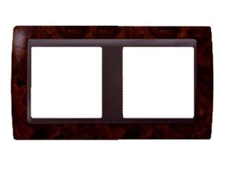 Ramka Simon 82 2x ciemny orzech/pośrednia grafitowy 82825-68 Kontakt Simon