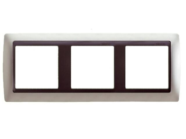 Ramka Simon 82 3x aluminium mat/pośrednia grafitowy 82834-33 Kontakt Simon