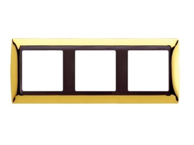 Ramka Simon 82 3x złoto/pośrednia grafitowy 82834-66 Kontakt Simon