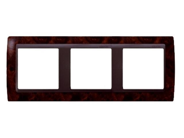 Ramka Simon 82 3x ciemny orzech/pośrednia grafitowy 82835-68 Kontakt Simon