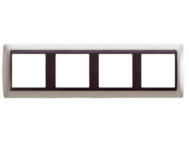 Ramka Simon 82 4x aluminium mat/pośrednia grafitowy 82844-33 Kontakt Simon