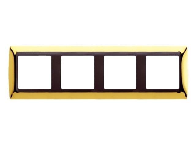 Ramka Simon 82 4x złoto/pośrednia grafitowy 82844-66 Kontakt Simon