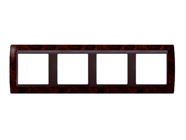 Ramka Simon 82 4x ciemny orzech/pośrednia grafitowy 82845-68 Kontakt Simon