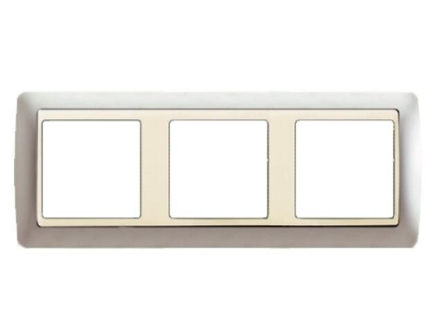 Ramka Simon 82 3x aluminium mat/pośrednia aluminium mat 82934-33 Kontakt Simon