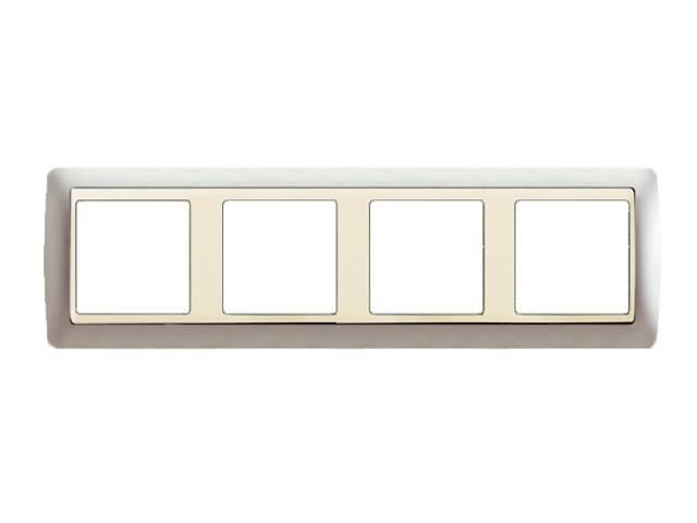 Ramka Simon 82 4x aluminium mat/pośrednia aluminium mat 82944-33 Kontakt Simon
