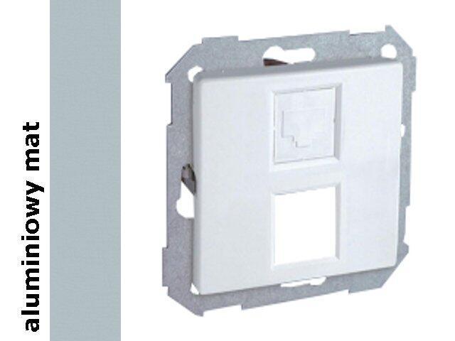 Ramka Simon 82 z adapterem do 1 lub 2 gniazd RJ 82585-33 aluminium mat Kontakt Simon