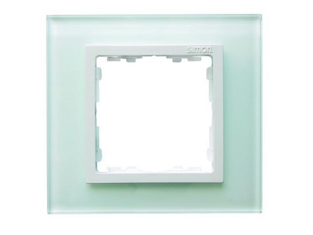 Ramka Simon 82 1x kryształ-biały/pośrednia biała 82617-30 Kontakt Simon