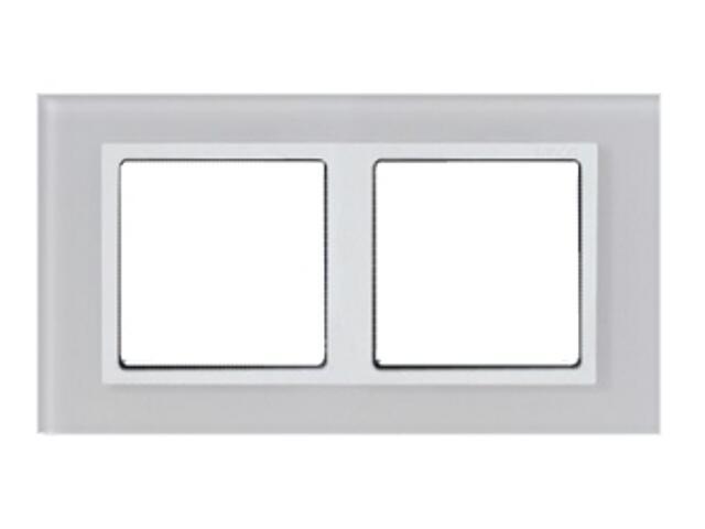 Ramka Simon 82 2x kryształ-biały/pośrednia biała 82627-30 Kontakt Simon