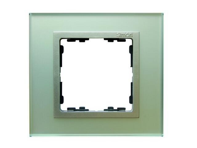 Ramka Simon 82 1x kryształ-srebrny/pośrednia alu. mat 82917-62 Kontakt Simon