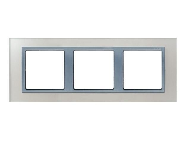 Ramka Simon 82 3x kryształ-srebrny/pośrednia aluminium 82937-62 Kontakt Simon