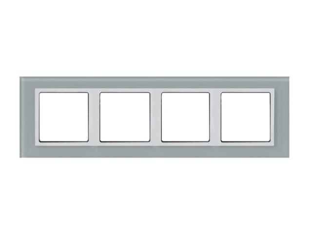 Ramka Simon 82 4x kryształ-natural/pośrednia biała 82647-60 Kontakt Simon