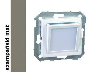 Mechanizm do modułów Simon 82 modułu świecącego LED 82036-34 szampański mat Kontakt Simon